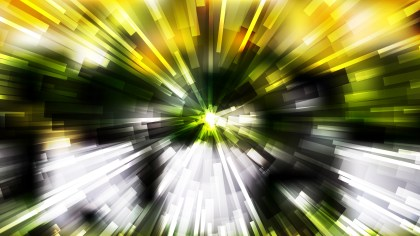 Abstract Black Green and Yellow Starburst Background