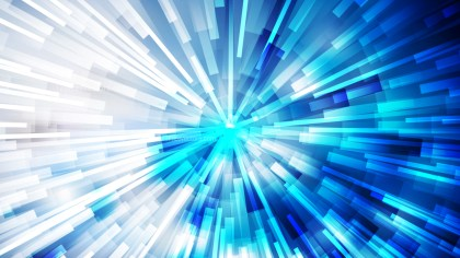 Abstract Blue and White Radial Explosion Background