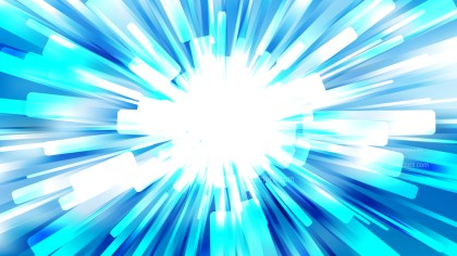 Abstract Blue and White Burst Background Image