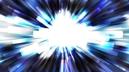 Abstract Blue Black and White Light Rays Background