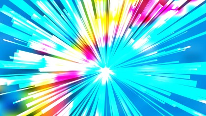 Abstract Colorful Starburst Background Design