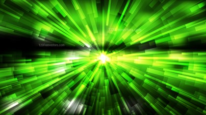 Abstract Green and Black Radial Explosion Background Image