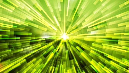 Abstract Green and Yellow Starburst Background Graphic