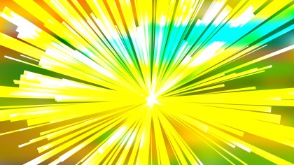 Abstract Green Yellow and White Radial Background