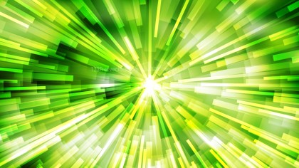 Abstract Green Yellow and White Radial Lights Background