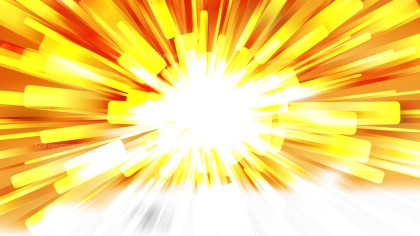 Abstract Orange and White Radial Lights Background