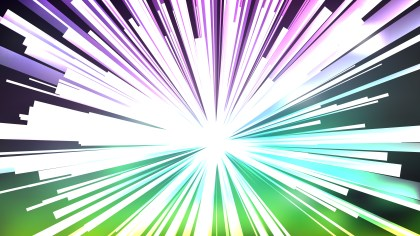 Abstract Purple and Green Light Rays Background