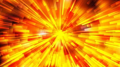 Abstract Red and Yellow Radial Sunburst Background