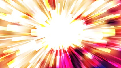 Abstract Red White and Yellow Light Rays Background