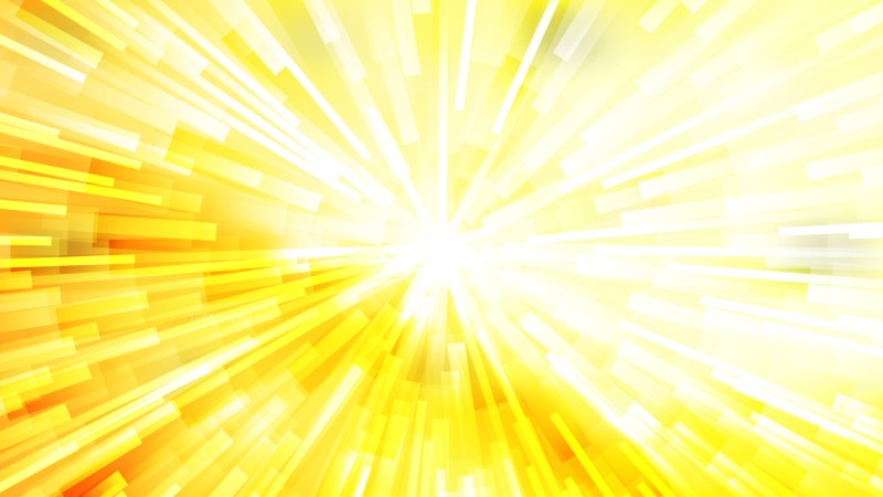 Abstract Yellow and White Radial Lights Background Design Template