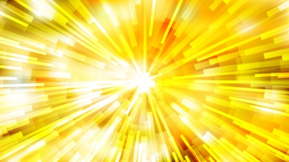 Abstract Yellow and White Radial Sunburst Background Vector