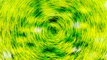 Abstract Green and Yellow Circular Lines Background