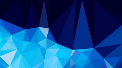 Abstract Black and Blue Polygonal Background Template