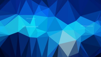 Abstract Black and Blue Polygonal Background Design Vector Illustration