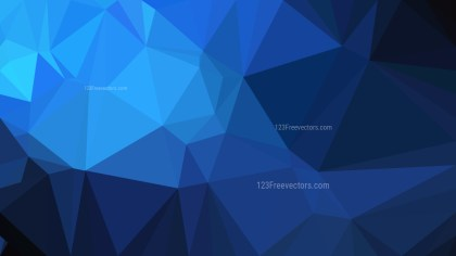Abstract Black and Blue Low Poly Background Design