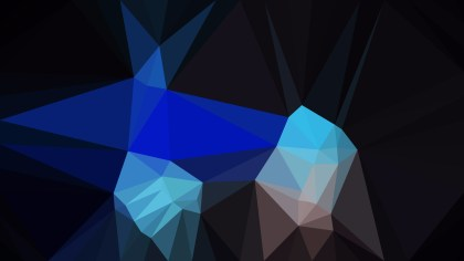 Abstract Black and Blue Polygonal Triangular Background