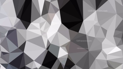 Black and Grey Polygon Background Template