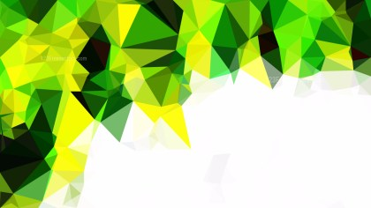 Black Green and Yellow Polygon Background Template Graphic