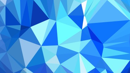 Abstract Blue Low Poly Background Design