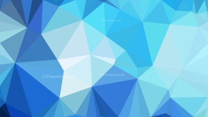 Blue Triangle Geometric Background Illustration
