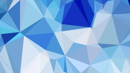 Abstract Blue Polygonal Background Template