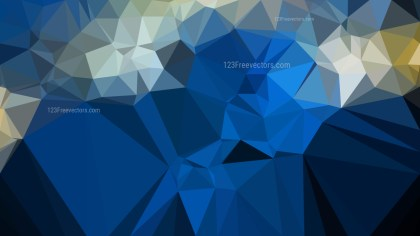 Blue and Gold Polygonal Abstract Background Design
