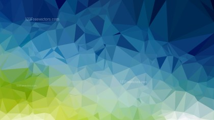 Blue and Green Polygon Pattern Background