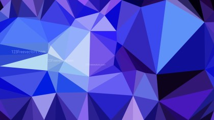 Abstract Blue and Purple Polygonal Triangular Background