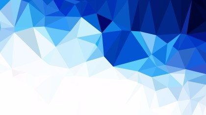Blue and White Low Poly Abstract Background Illustrator