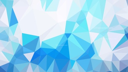 Abstract Blue and White Polygon Background