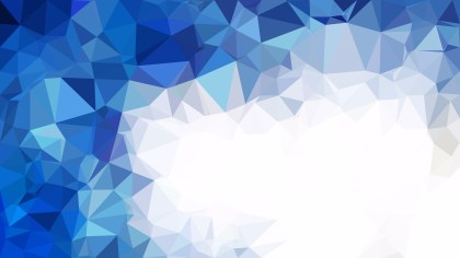 Abstract Blue and White Low Poly Background