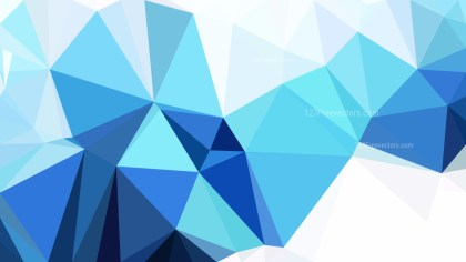 Abstract Blue and White Polygonal Background Template