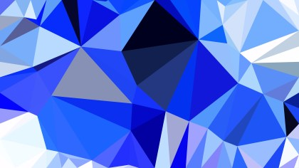 Blue and White Polygon Triangle Background Vector Illustration