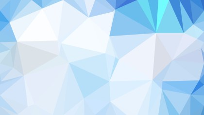 Blue and White Low Poly Background