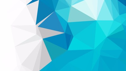 Blue and White Low Poly Abstract Background