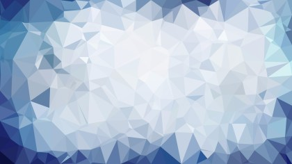 Blue and White Polygon Triangle Pattern Background Illustration
