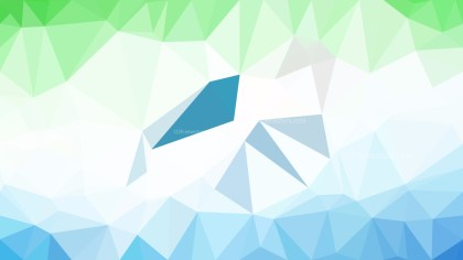 Blue Green and White Polygonal Abstract Background