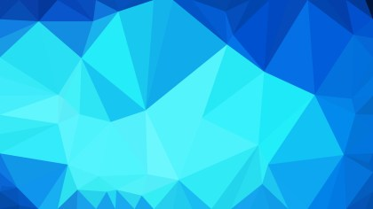Abstract Bright Blue Polygonal Background Design