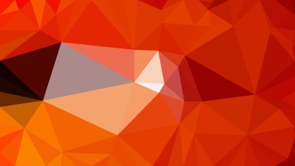 Bright Orange Low Poly Abstract Background Design