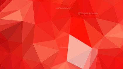 Abstract Bright Red Polygon Background Graphic Design