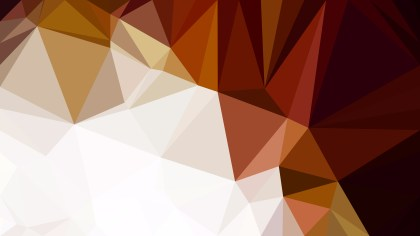 Abstract Brown and White Low Poly Background Image