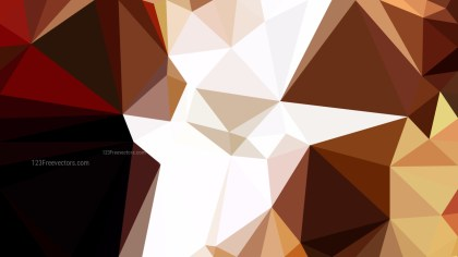 Brown and White Polygonal Abstract Background Design