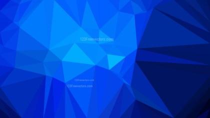 Cobalt Blue Polygonal Abstract Background Design Vector Illustration