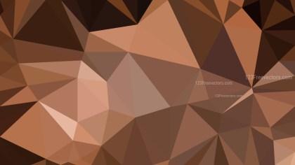 Coffee Brown Polygonal Background Design