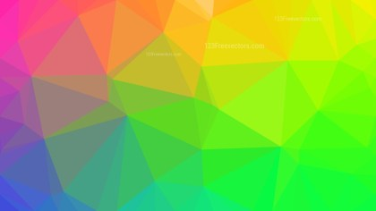 Colorful Polygon Background Template Graphic