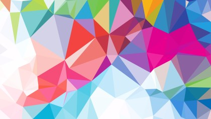 Abstract Colorful Polygonal Triangle Background Illustrator