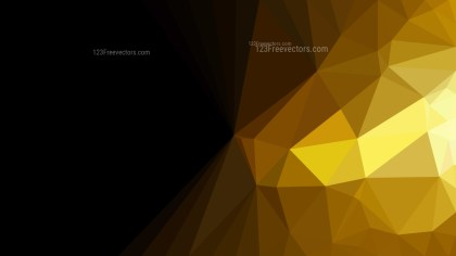 Abstract Cool Gold Low Poly Background Illustration