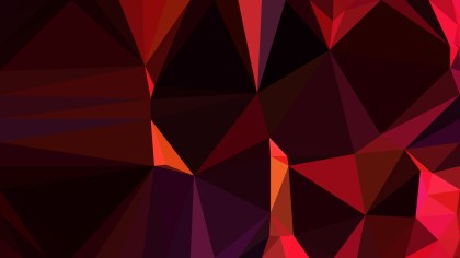 Cool Red Low Poly Abstract Background