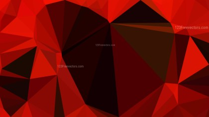 Abstract Cool Red Polygonal Background Image