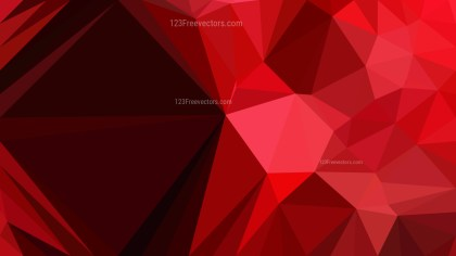 Abstract Cool Red Low Poly Background Design